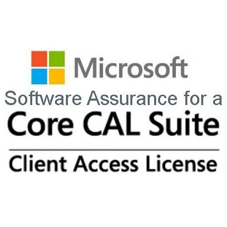 Microsoft Software Assurance for a Core CAL Suite Device CAL
