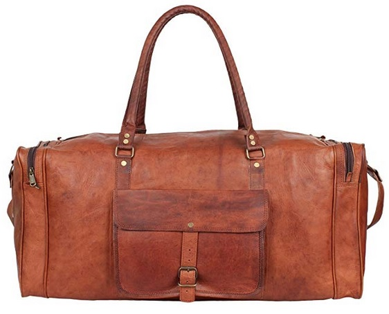 Vintage leather holdall
