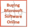 Buying Microsoft Sofware Online 4 Jigsaw Pieces