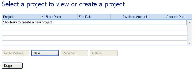 Microsoft Money Home and Business projects
